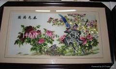 春色滿園精品牡丹手工刺繡
