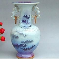 鈞瓷雙耳花瓶
