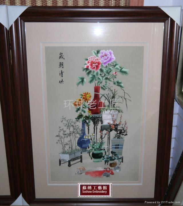 玉堂富貴純手工單面刺繡 3