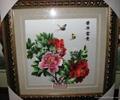 純手工牡丹花單面刺繡 2