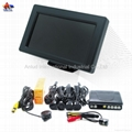 4.3 inch Digital TFT-LCD car monitor with camera and 4 parking sensors ALD41B
