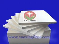 Vacuum formed ceramic fiber board for furnace