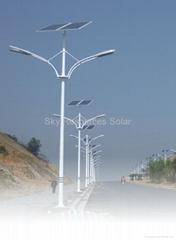 100% lighting solar street lamp--80% extra energy saving