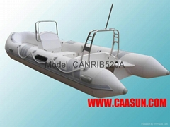 RIB BOAT,5.2 Meters,Fiber Glass Floor