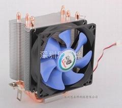 土狼四热管CPU散热器冰锋400