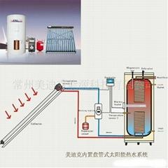 (CE)内置铜盘管分体承压太阳能热水器系统