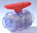 Clear PVC True Union Ball Valve