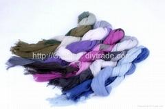fashion accessories woman mercerized wool scarves,wraps