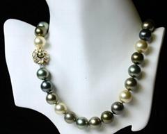 古典贝壳珍珠项链
