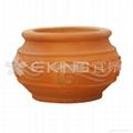 海浪紋陶罐