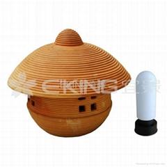 陶燒蓋帽草坪燈