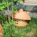 陶燒蓋帽草坪燈  2