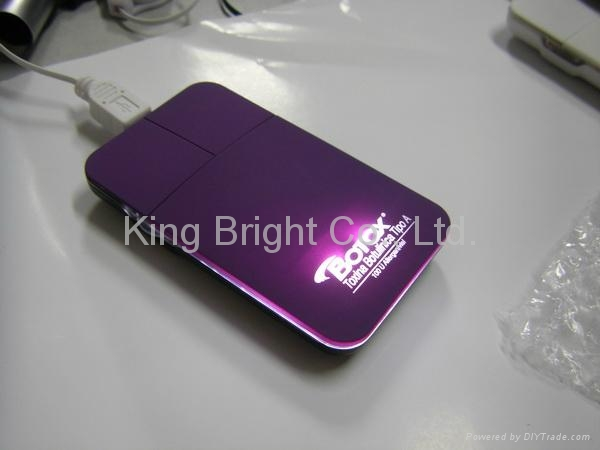 Super Slim LED travel mouse with light logo 2