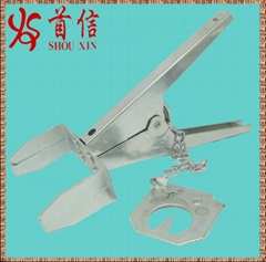 Scissors mole trap