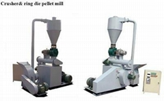 SH-300 combined pellet machine equipped with hammer mill and pellet machine