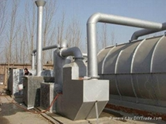 8.5 kw waste tire oil refining plant with 4-5tons output.