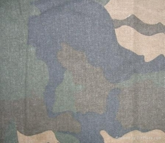 Sell pigment camouflage printed twill fabric
