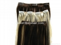 100% virgin remy clip in hair extension