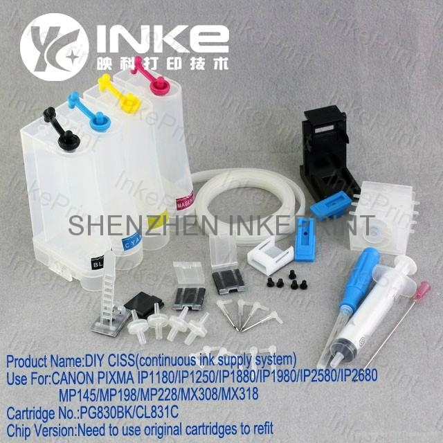 DIY CISS (Continuous Ink Supply System) for HP21/22, 56/57 3