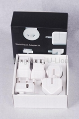 8 in 1 ac adapters world travel kit for