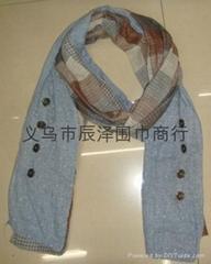 纱布印花围巾