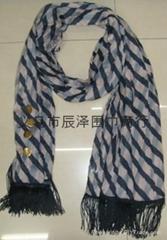 纽扣包头巾