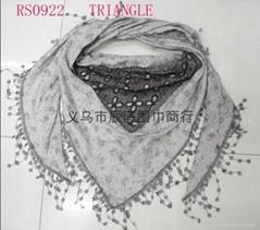 刺繡棉圍巾