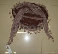 刺繡圍巾2