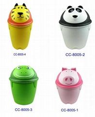 animal shape plastic trash bin