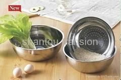rice ss colander bowl