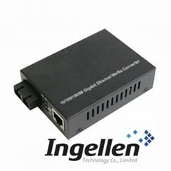 10/100/1000M Gigabit Ethernet Media Converter (External Power Supply)