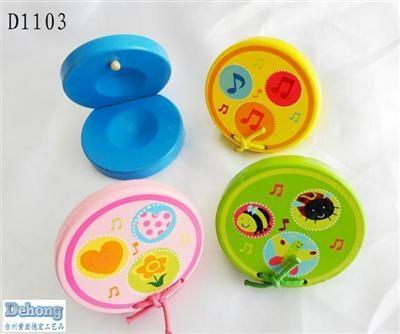 木製玩具 五彩亮色響拍 1