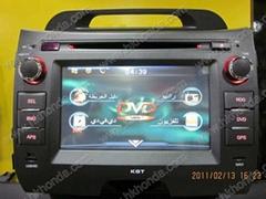 car dvd radio for kia sportage