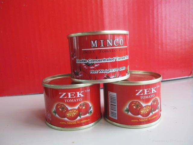 tin 70g tomato paste 28-30 by strong manufacturer export Africa,Europe 3
