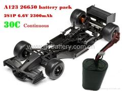A123 26650 2S1P RC racing car battery