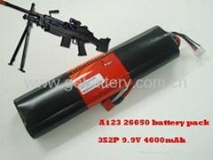 9.9V 4.6Ah Airsoft gun battery