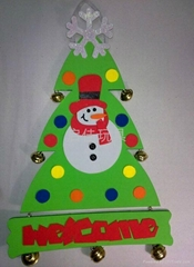 EVA 圣诞树雪人吊饰