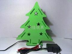 EVA 迷你拼裝七彩閃光聖誕樹
