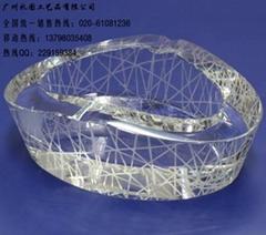 水晶鸟巢烟灰缸