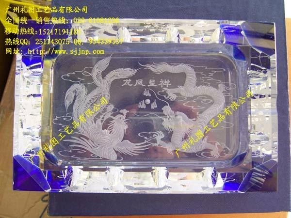 水晶鸟巢烟灰缸 3