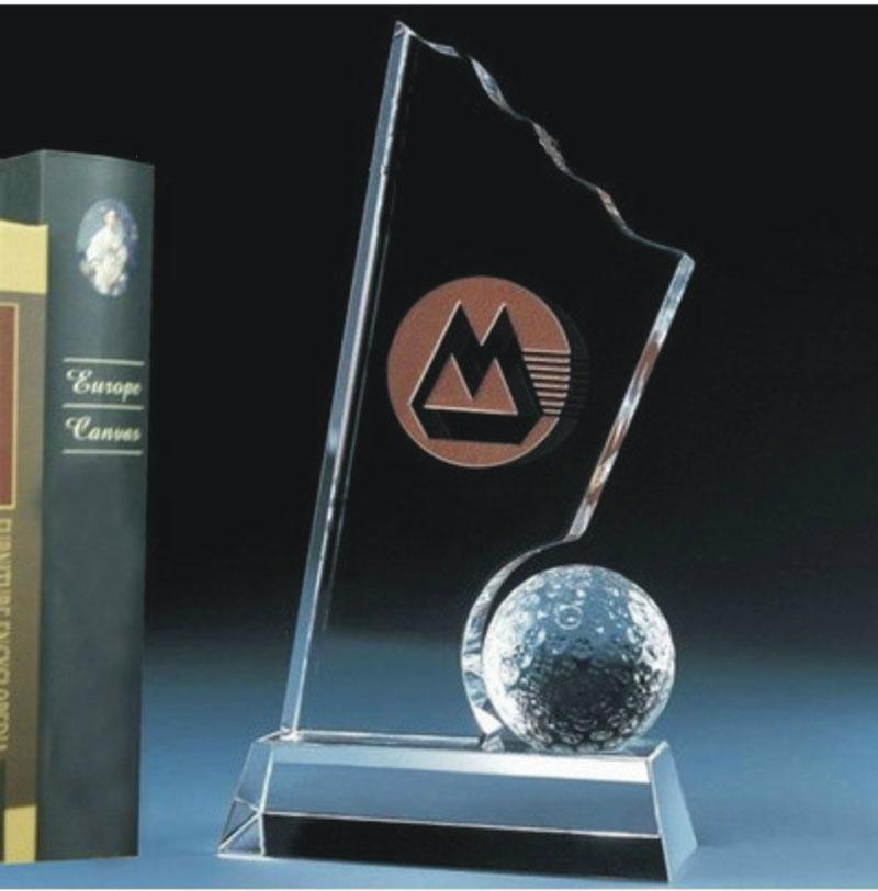 乒乓球赛优胜奖水晶奖杯 2