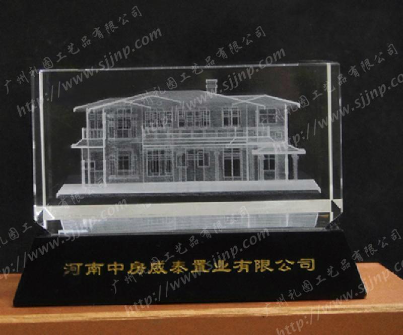 水晶内雕建筑 5