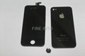 Conversion Kit for Apple iPhone 4S AT&T GSM Black Digitizer LCD Back Case button