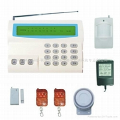 高档LCD16防区液晶多功能家用报警器