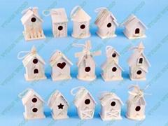 unfinished wood bird house