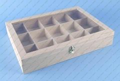 unfinished wood box  -- tea box