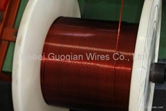 Polyimide-F46 compound film wrapped sintered copper wire
