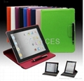Crosell Rotatable Case 360 Degrees Stylish Smart Cover for iPad 2 / the New iPad