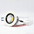 2012 hot high lumen 5w recessed COB led
