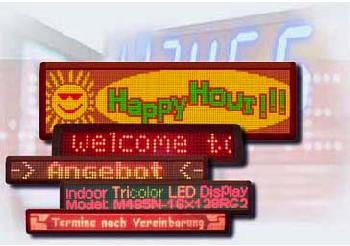 Indoor Tri-Color LED Message Signs 1
